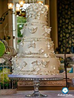Expensive cherub wedding cake