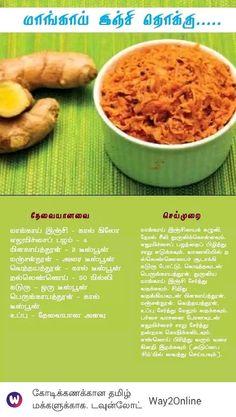 Maa inji thokku Vegetarian Cooking, Healthy Cooking, Vegetarian Recipes, Cooking Recipes, Healthy Indian Recipes, Healthy Diet Recipes, Indian Foods, Jain Recipes, Look And Cook