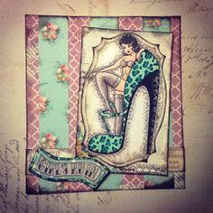 Leopard print Girls Ruin. Shoes, Leopard Print, tattoo, bombshell , rubberstamps , card, pin-up