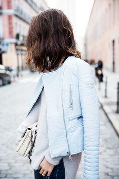 blue pastel jacket