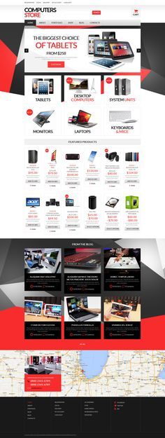 Design which frames the products perfection with effective presentation is the right choice for any online store, especially the one that offers computers hardware. Such a shop should combine the l...