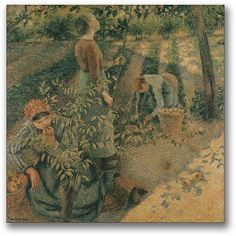 Reproduction Painting Camille Pissarro Apple Picking, Hand-Painted Reproductions Art Oil On Canvas Paul Gauguin, Camille Pissarro Paintings, Pissaro Paintings, Oil On Canvas, Canvas Wall Art, Pop Art, Google Art Project, Gustave Courbet, Impressionist Artists