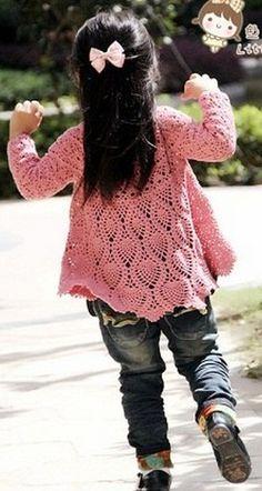 Платье-туника для девочки крючком