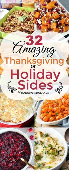 Slow cooker cranberry barbecue meatballs recipe pinterest bbq 32 amazing thanksgiving or holiday sides by noshing with the nolands is a collection of recipes forumfinder Images