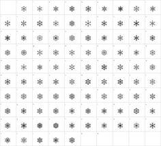 Faux Snow Glyph Map