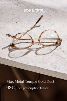 2626097517 Update your eyewear for €98 with the Ace   Tate Max Metal Temple in Gold
