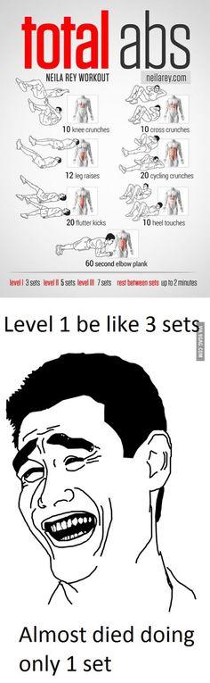 Level 1 be like