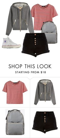 """Bez tytułu #134"" by maryb96 on Polyvore featuring moda, WithChic, Burberry, Valentino, River Island i Converse"