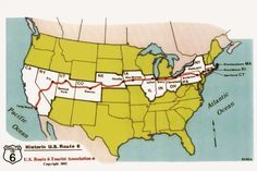 Drive Cross Country on US Route 6 What to do on Route the only continuous highway to cross the US (image: Map of USA with Route 6 in Red from Massachusetts to California) Us Travel Destinations, Rv Travel, Travel Maps, Travel Gadgets, Travel Trailers, Texas Travel, Camper Trailers, Outdoor Travel, Adventure Travel