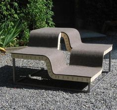 modular curved outdoor wooden bench design