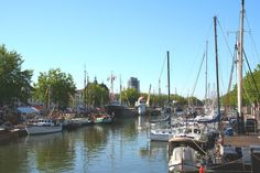 I love the 'old harbour' of my town Vlaardingen. And I live 1 street away from it :)