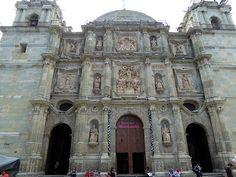 The Zocalo, the heart of Oaxaca City.