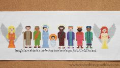 Nativity Characters Counted Cross Stitch Pattern
