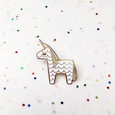 unicorn piata enamel pin