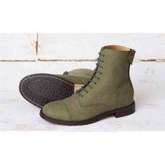 Good Guys 'Norider' vegan boots - khaki suede