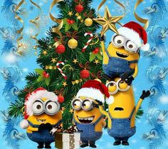 Find images and videos about christmas, holiday and minions on We Heart It - the app to get lost in what you love. Merry Christmas Minions, Merry Christmas To All, Disney Christmas, Christmas Time, Christmas Cards, Amor Minions, Cute Minions, Minions Despicable Me, Minions Quotes