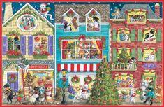 """fabulous Caspari """"Village with Animals"""" Christmas Cards, Box of 16  #Animals #Cards #Caspari #Christmas #Village"""