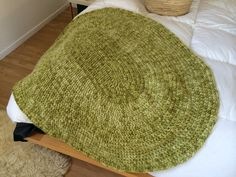 The first thing I ever made. It's an alpaca/ lambs wool blend snuggle rug, which I gave to my sister.