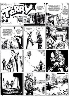 """""""Terry and the Pirates"""" by Milton Caniff The LAST page of the story!"""