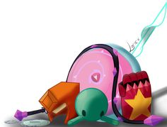Steven Universe - Pearl's Spear, Garnets Gauntlet, Amethyst's Whip, Lapis's Mirror, Peridot's Robonoid, Jaspers Helmet, Rose's Shield