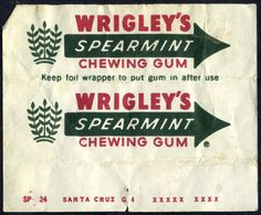 The classic wrapper of a known chewing gum brand