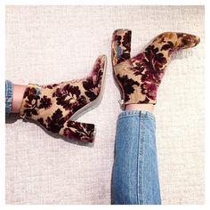 """#nye #vibez #stellamccartney #floral #velvet #boots"" Photo taken by @theclm on Instagram, pinned via the InstaPin iOS App! http://www.instapinapp.com (12/31/2015)"