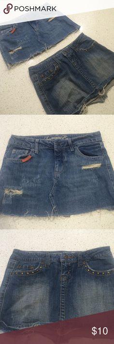 Jean mini skirts 2 jean mini skirts by YMI and American Eagle size 1 and 0 Skirts Mini