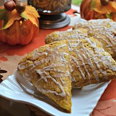 "Val's Pumpkin Scones | ""Pumpkin pie in a scone - very tasty! I make this free-form without using cutters."""