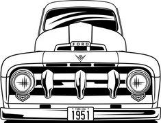 Chevy Diesel Trucks, Ford Pickup Trucks, Chevrolet Trucks, 1957 Chevrolet, Chevrolet Impala, Car Drawing Pencil, Car Silhouette, Classic Ford Trucks, Ford F Series