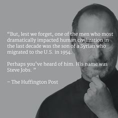 A #syrian #migrant's child. Perhaps you've heard of him. His name was Steve Jobs. via @huffingtonpost