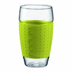 Bodum 20-Ounce Pavina Glasses with Silicone Grip, Set of 2