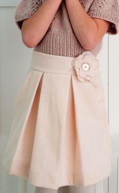 girls wool skirt pdf pattern - Aesthetic Nest (6 dollars)