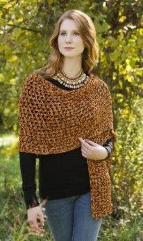 Free Crochet Sparkling Wrap Pattern.