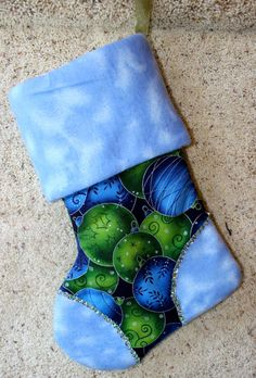 Christmas Stocking  Handmade by ZippersCreations on Etsy, $19.00