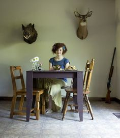 At home with the Huntress  By Jordan G Teicher for Slate  The relationship and contrasts between gendered behaviors, what society deems acceptable gendered behavior of women hunters  Sociology, gender, women, gun, hunting,