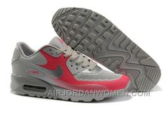 buy popular c174b 4e780 Nike Air Max 90 Hyperfuse Womens Red Grey Top Deals EGZS7