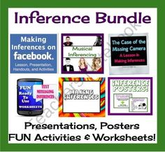 Teaching Inference: Presentation, Posters, & Printable Worksheet Bundle Common Core  product from Presto-Plans on TeachersNotebook.com