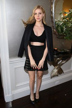 • Nicola Peltz's Saint Laurent ensemble •