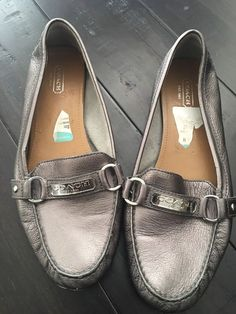 4440f8f3e97 Coach shoes flats loafers womens size 10 Bmetallic Felisha A2920  fashion   clothing  shoes  accessories  womensshoes  flats (ebay link)