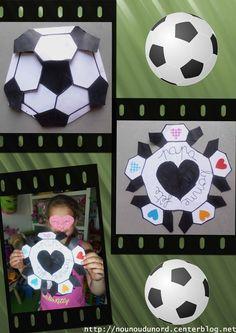Carte ballon de foot pour la fête des pères d'Axelle