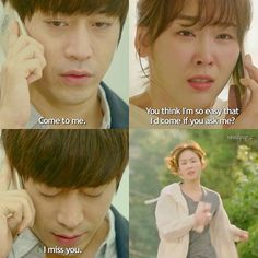 ' Another Miss Oh ☆ 「 Episode 10 」 She yells for him to say something when he… Another Miss Oh, Drama Words, Eric Mun, Girl Drama, Best Kdrama, Cry Now, Korean Shows, Drama Fever, Kdrama Memes