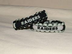 Oakland Raiders NFL Survival 550 Paracord Bracelet
