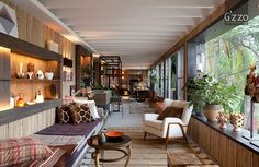 Located in São Paulo, Brazil, this eclectic terrace interior was designed by Galeazzo Design.