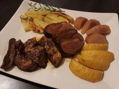 Kacsamáj, kacsamell, körte  és sült alma