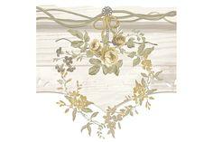 Essener Tapeten 'Primavera' Bordüre Blumenkränze grün/beige/ocker - im Fantasyroom Shop online bestellen oder im Ladengeschäft in Lörrach kaufen. Besuchen Sie uns!