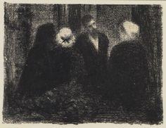 Georges Seurat, Family Group (Condolences) 1886.