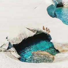 Sea caves in Milos, Greece. Photo by © @Lauren Bullen @gypsea_lust
