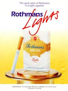 Rothmans cigarettes poster ad vintage tobacco @alikarami_