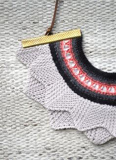 Deer Little Fawn: Knitted necklaces ~ this concept could be great for an added finish to a girls dress                                                                                                                                                                                 More