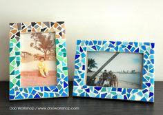 Mosaic DIY photo frame